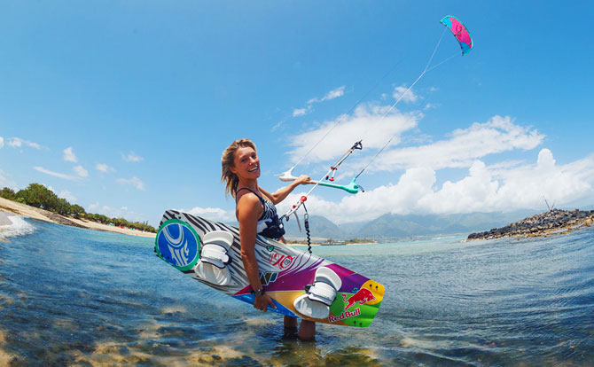 Susi Mai with Cabrinha SIREN 2013 kite and board