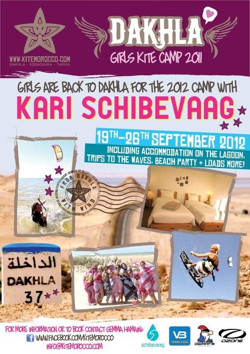 Kari Schibevaag Dakhla Girls Kite Camp 2012