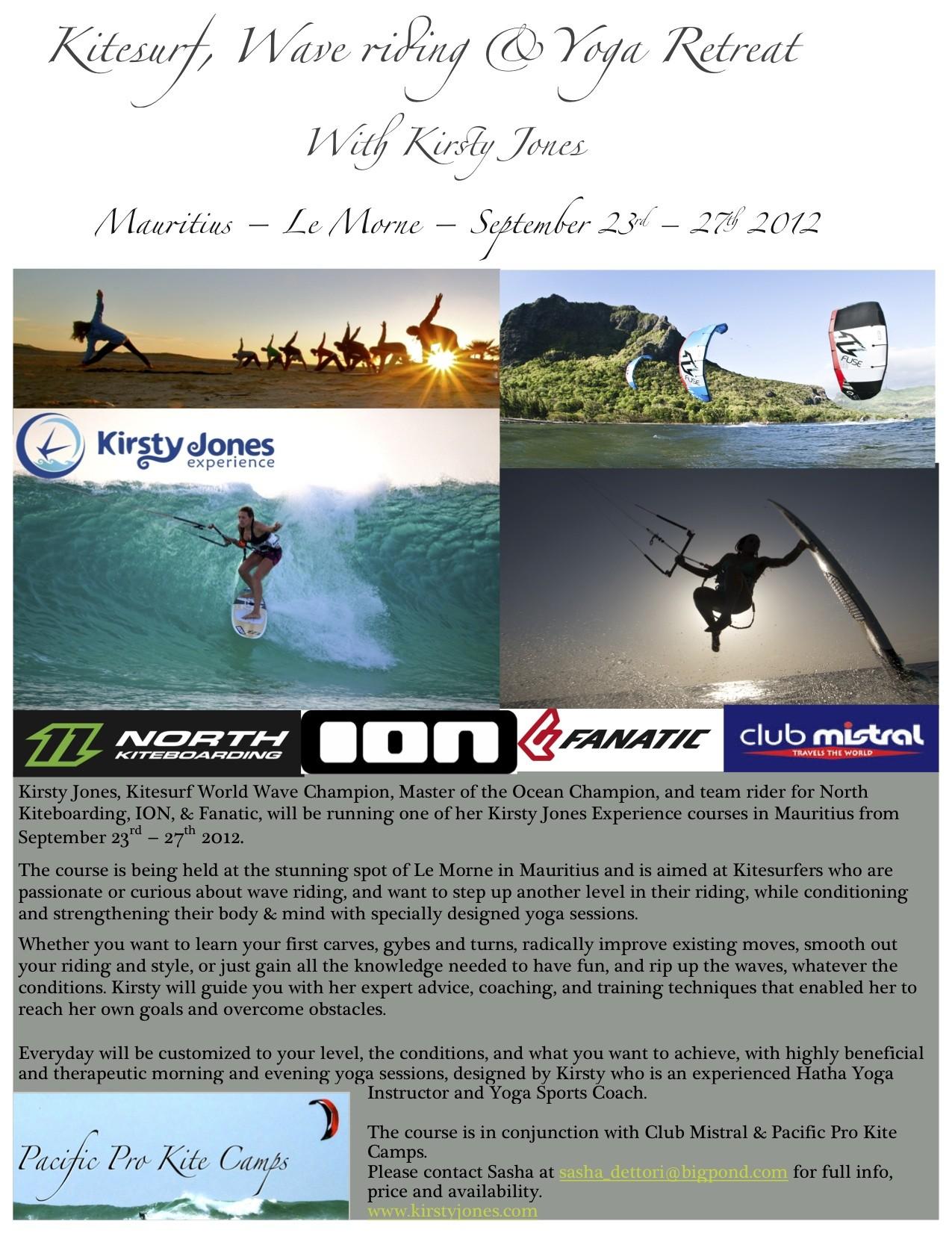 Kirsty Jones Kite, Wave & Yoga Retreat – Mauritius
