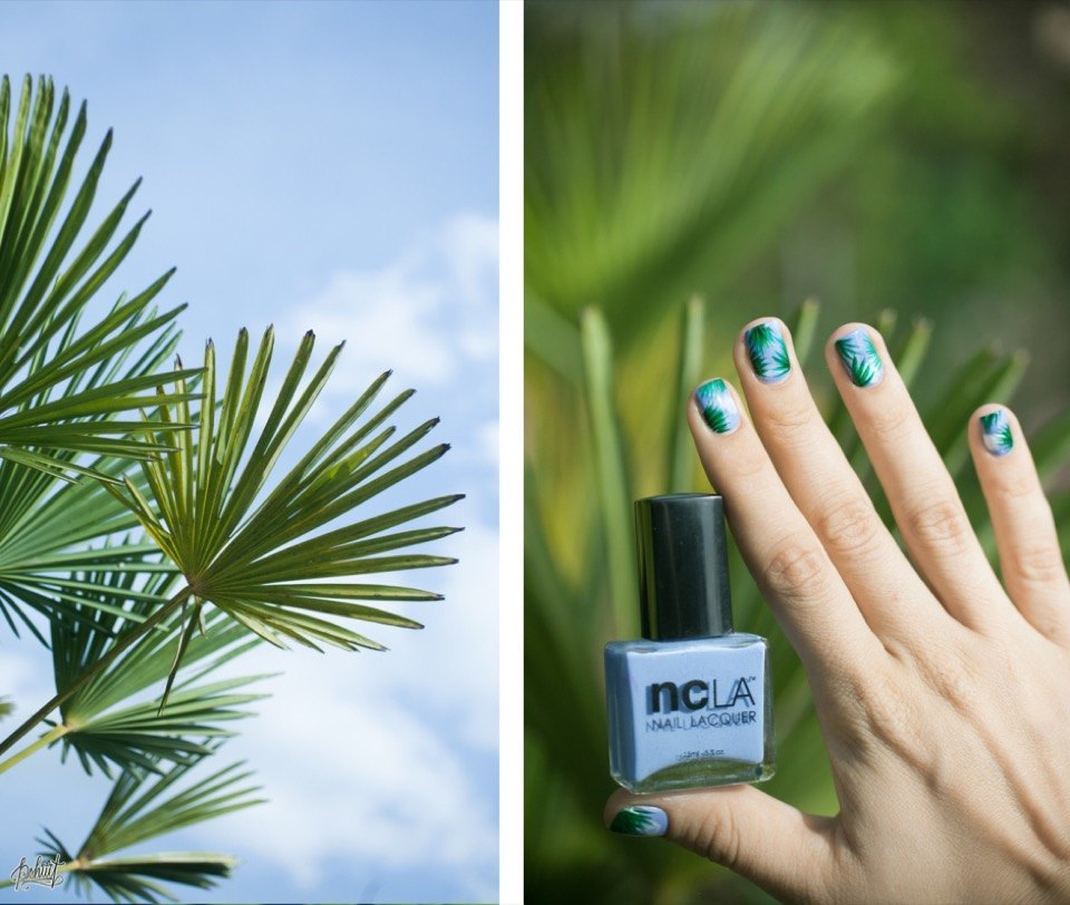 Nail Art Tutorial: Palm Tree Inspiration