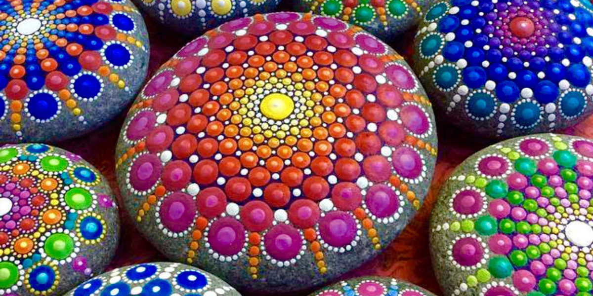 Wonderful Mandala Stones by the Artist Elspeth Mclean