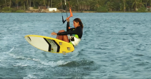 Surfboard Air Gybe with Christian and Karine from CK Performance