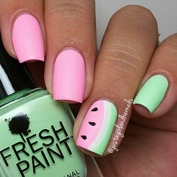 Watermelon Nail Art - KiteSista