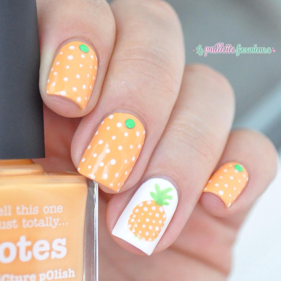 Pineapple Nail Art  - KiteSista