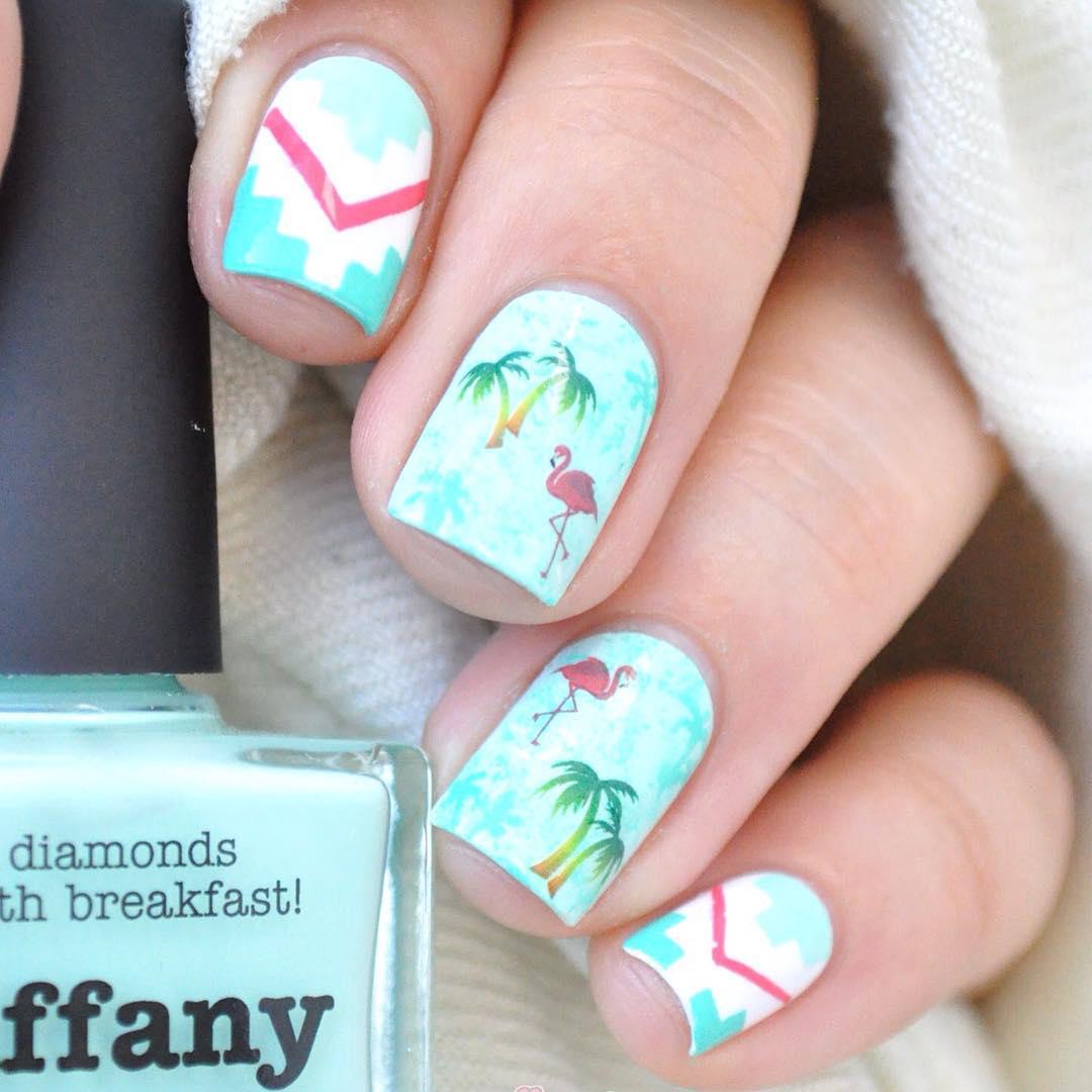 Flamingos and Palm Tree - KiteSista