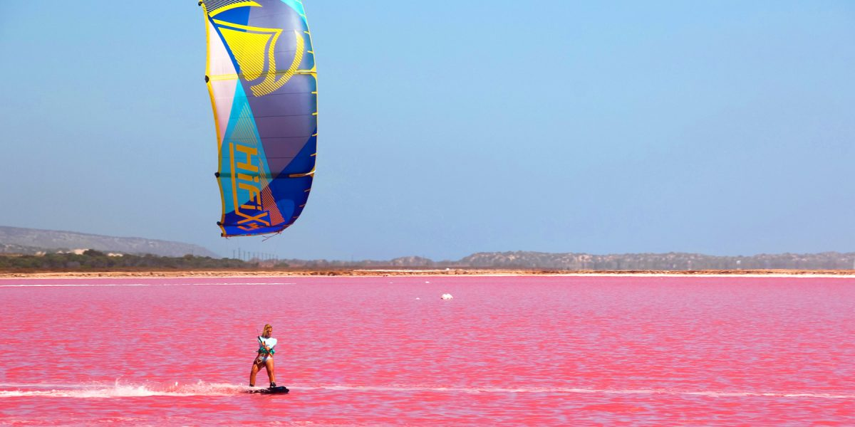 Kiting in the Pink with Kea Janssen