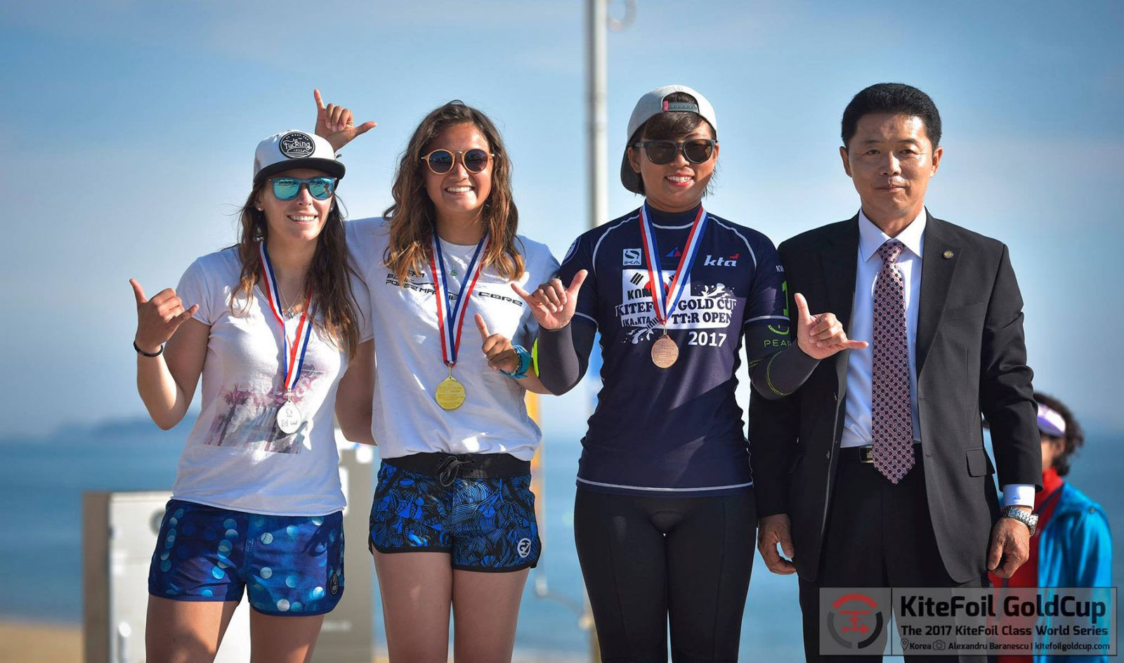 Anais Desjardins takes the win in Korea in the Kite Foil Gold Cup