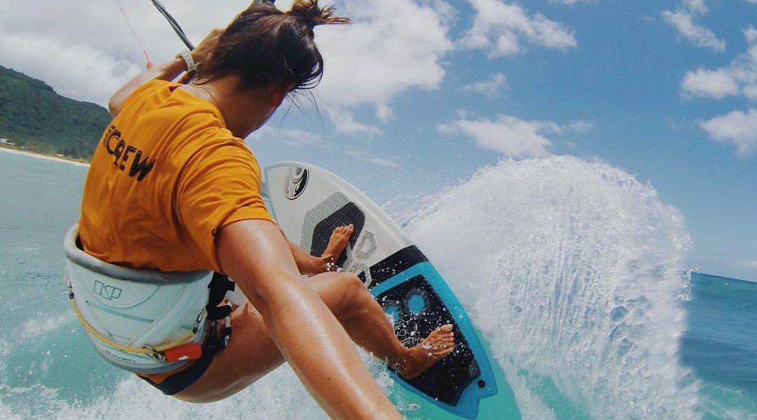 Moona Whyte – Kitesurfing Mauritius
