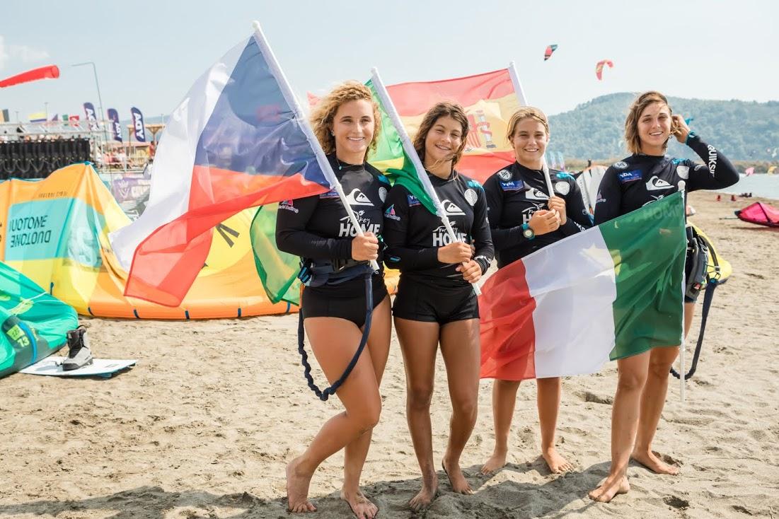 Women's podium - WKC - KiteSista