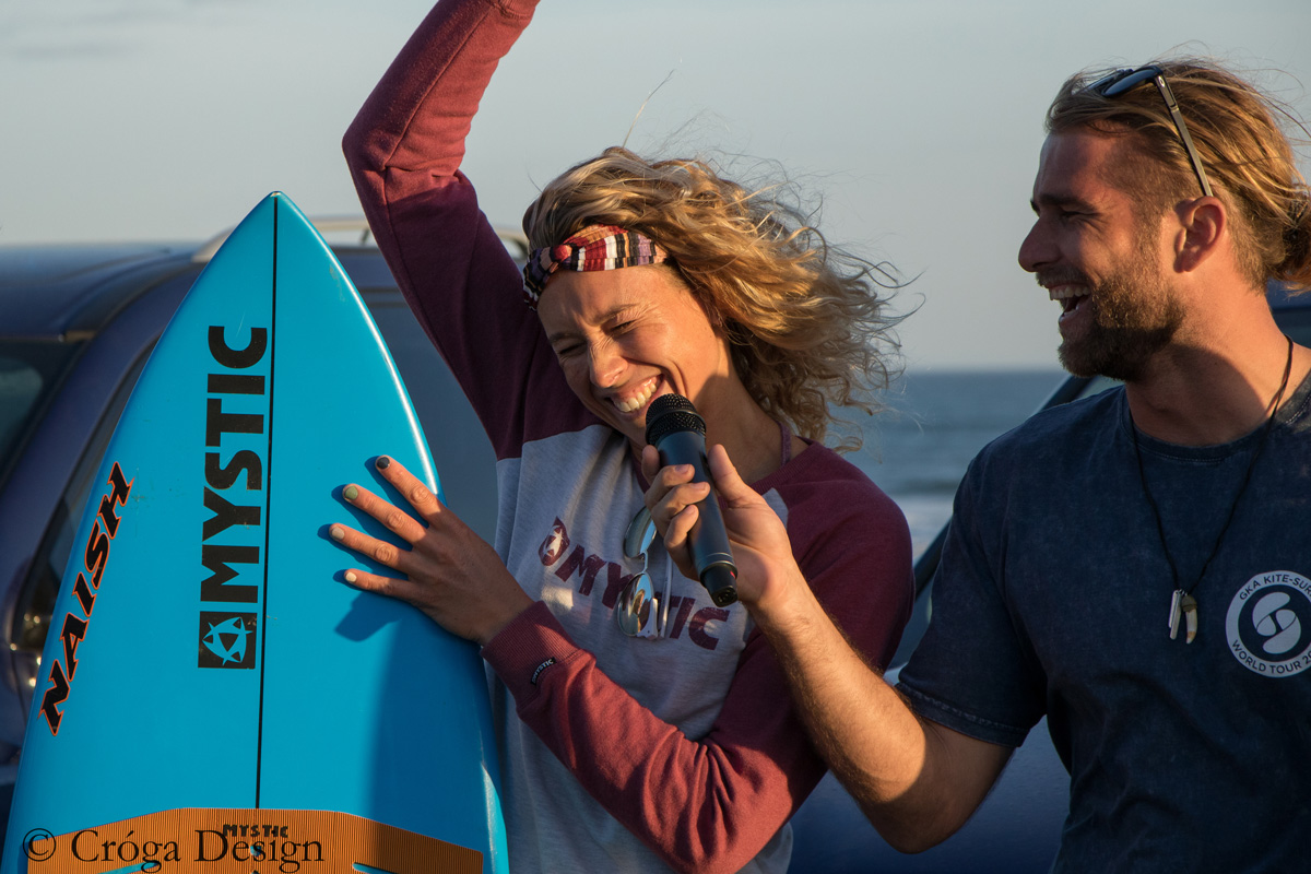 the GKA Kite-Surf World Tour 2018 Women's Champion Jalou Langeree