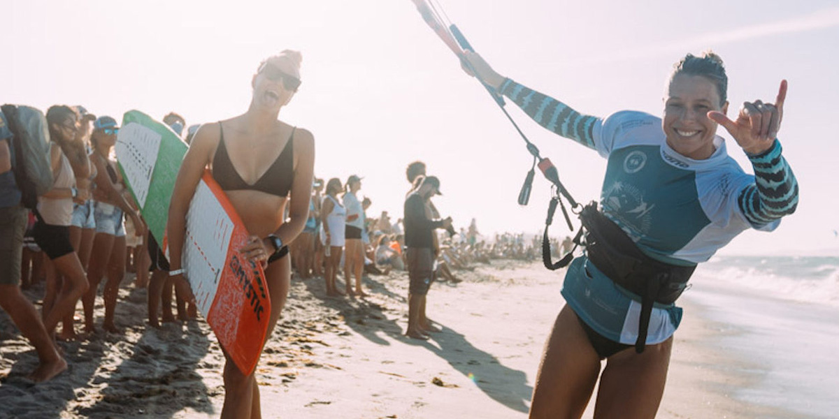 The GKA Kite-Surf World Tour 2018 Women's Champion is Jalou Langeree