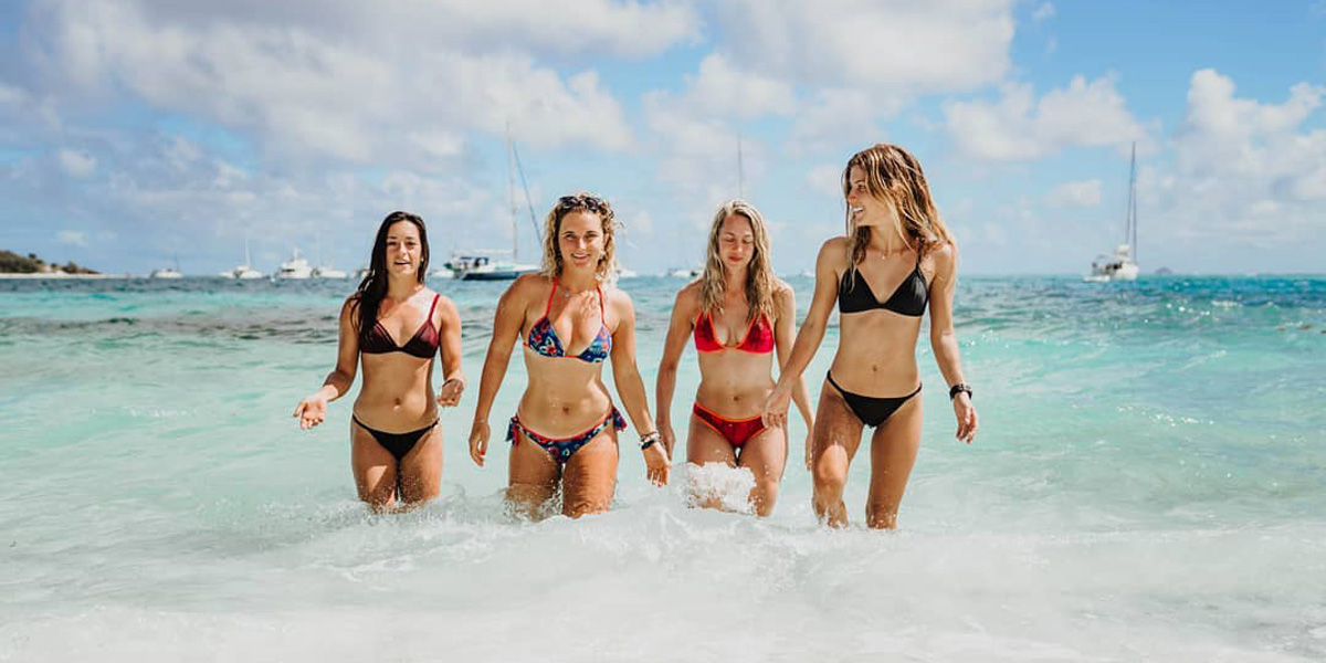 Kiteboarding in Grenadines – The new Stance Webstory with the Girls